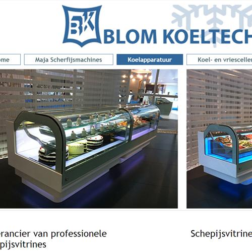 portfolio webdesignbureau site blom koeltechniek