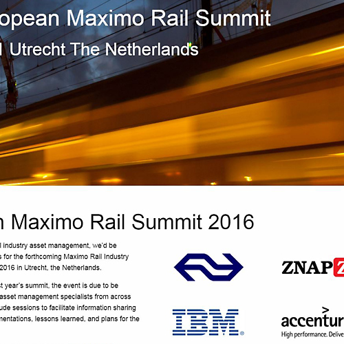 webdesign portfolio European Maximo Rail Summit