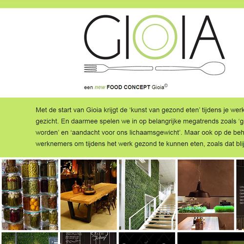 Realisatie website Gioia Restaurant