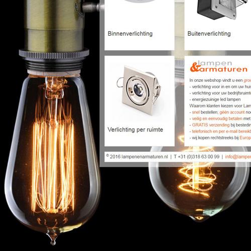 Realisatie webshop Lampen & Armaturen