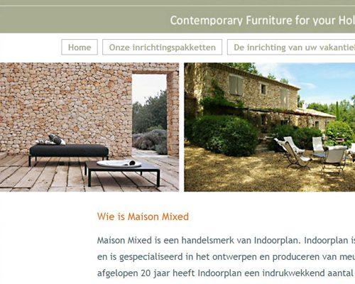 Realisatie website Maison Mixed