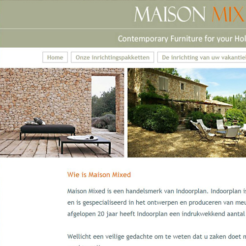 Realisatie website Maison Mixed