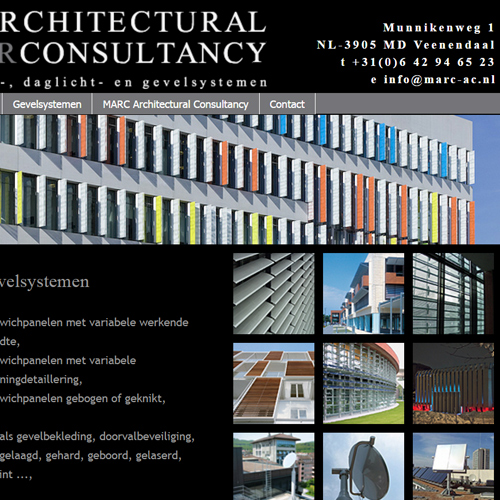portfolio webdesignbureau website marc architectural consultancy