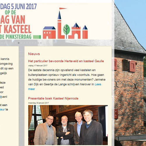 Realisatie website Nederlandse Kastelenstichting