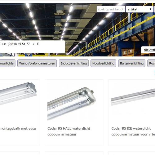 Realisatie website Rocalux Import Export Verlichting