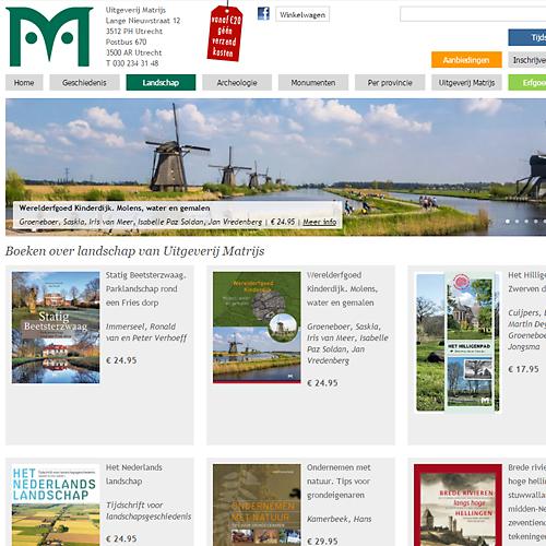 portfolio webdesignbureau website uitgeverij matrijs