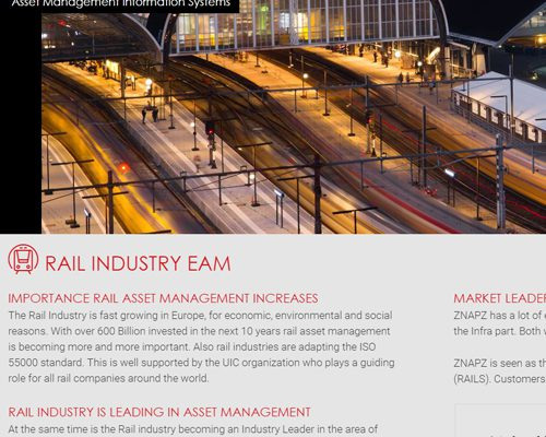 portfolio webdesignbureau -website znapz asset management