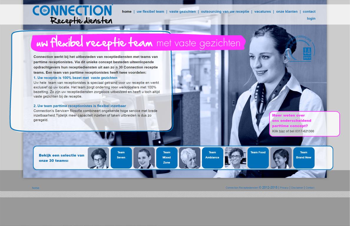 realisatie website connection receptiediensten